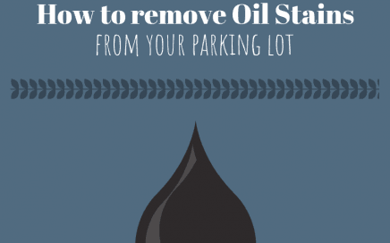 How to Remove Oil Stains from your Parking Lot