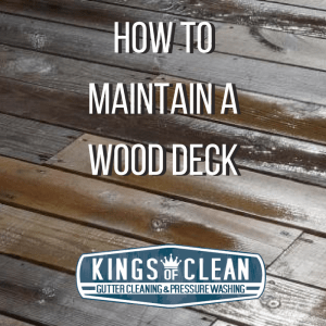 How to Maintain a Wood Deck