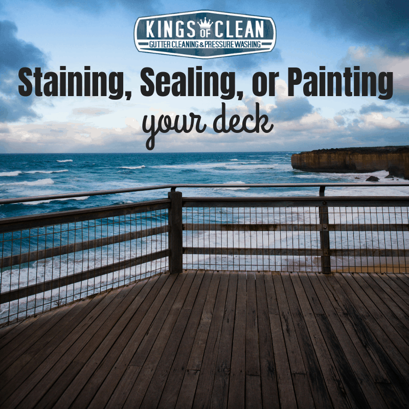 Staining, Sealing, or Painting Your Deck