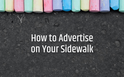 how to advertise on your sidewalk