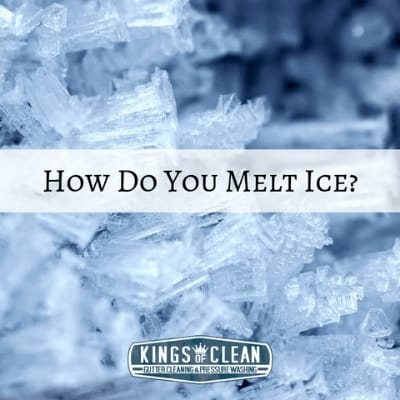 How do you melt ice in Northern Kentucky?